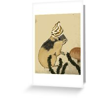 Arctic Lemming With Meringue Hat Greeting Card
