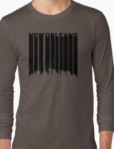 Retro New Orleans Cityscape Long Sleeve T-Shirt