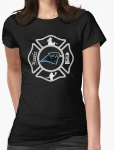 Charlotte Fire - Pathers Style Womens Fitted T-Shirt