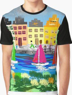 Copenhagen by Roger Pickar, Goofy America Graphic T-Shirt