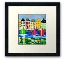 Copenhagen by Roger Pickar, Goofy America Framed Print