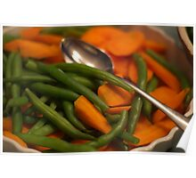 Carrots and Beans-for Thanksgiving Poster
