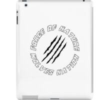 Wolves Nation - Force Of Nature iPad Case/Skin