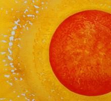 Autumn Sun original painting Sticker