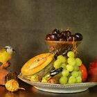 Fruit and Cricket by Gilberte