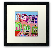 Happy Town by Roger Pickar, Goofy America Framed Print