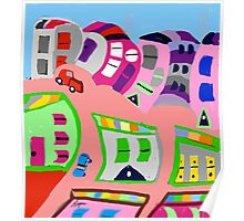 Happy Town by Roger Pickar, Goofy America Poster