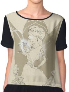 Fairy in brown sketch Chiffon Top