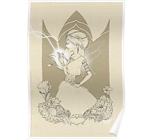 Fairy in brown sketch Poster