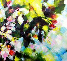 Tree Blossom Painting by Samuel Durkin by Samuel Durkin