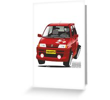 Fiat Cinquecento Abarth caricature Greeting Card