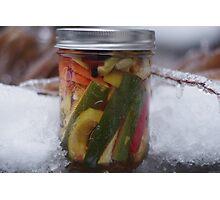 Crispy Winter Pickle Photographic Print