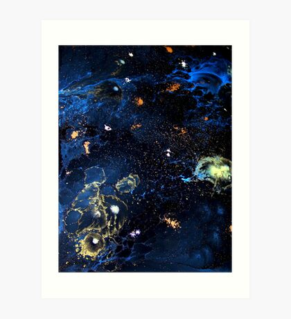 Abstract Fluid Acrylic Universe Painting HELIX Holly Anderson Contemporary Art Collective Art Print