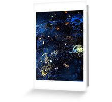 Abstract Fluid Acrylic Universe Painting HELIX Holly Anderson Contemporary Art Collective Greeting Card