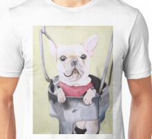 Frenchie On A Swing  Unisex T-Shirt