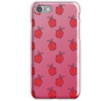 Pink Ladybugs iPhone Case/Skin