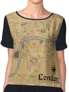 Map of London - Tolkien Inspired  Chiffon Top