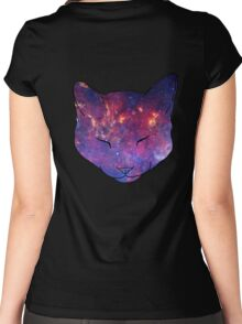 Galaxy Cat 00 Women's Fitted Scoop T-Shirt
