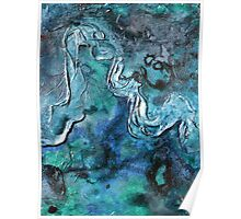 Abstract Painting Water Art by Holly Anderson Artist CANAL SERIES 1 Poster
