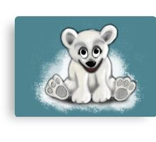 Baby Blizzard Bear Canvas Print