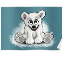 Baby Blizzard Bear Poster
