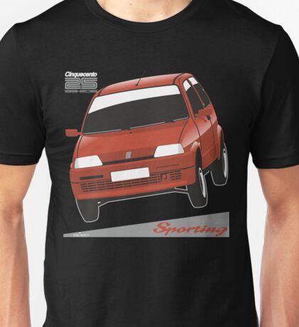 Fiat Cinquecento Sporting red Unisex T-Shirt