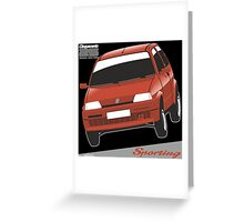 Fiat Cinquecento Sporting red Greeting Card