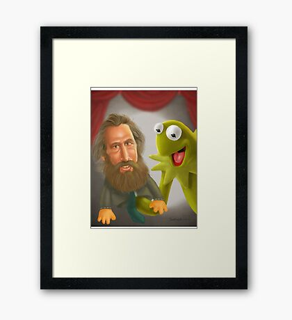 Jim Henson caricature Framed Print