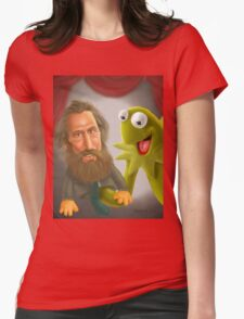 Jim Henson caricature Womens Fitted T-Shirt
