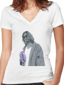 69 cent.  Jeffrey Lebowski shopping for Half & Half Women's Fitted V-Neck T-Shirt