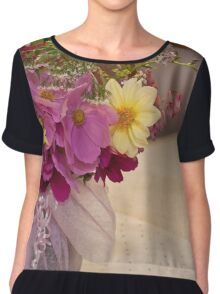 Garden Fresh Bouquet Chiffon Top