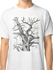 Old Bur Oak in Ink Classic T-Shirt