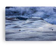 Sandstone & Sea with Nerites Canvas Print