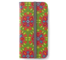 FLOR XL green iPhone Wallet/Case/Skin