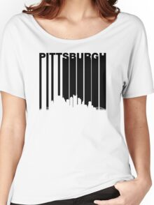 Retro Pittsburgh Cityscape Women's Relaxed Fit T-Shirt