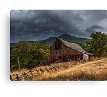 Mendon Utah Barn in Storm Canvas Print