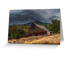 Mendon Utah Barn in Storm Greeting Card