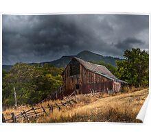 Mendon Utah Barn in Storm Poster