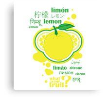 FruitHeads - lemon Canvas Print