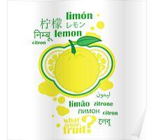FruitHeads - lemon Poster