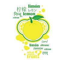 FruitHeads - lemon Photographic Print