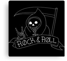 Rock and Roll Grim Outline Canvas Print