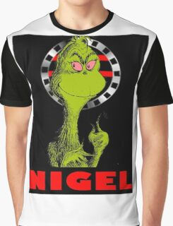 Nigel the Grinch Who Stole England Graphic T-Shirt