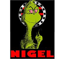 Nigel the Grinch Who Stole England Photographic Print