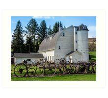 Historic Uniontown Washington Dairy Barn Art Print
