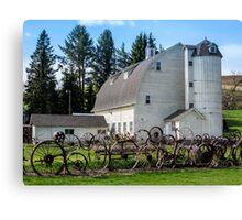Historic Uniontown Washington Dairy Barn Canvas Print