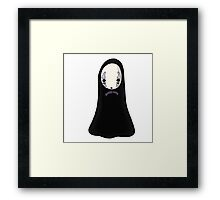 No-face Framed Print