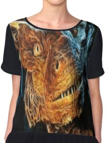 Draco The Dragon From The Hit Dragonheart Movie Chiffon Top