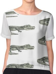 Alligator Chiffon Top