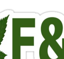 I Love F & M  Sticker